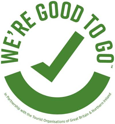 We're Good To Go government COVID-19 compliance logo